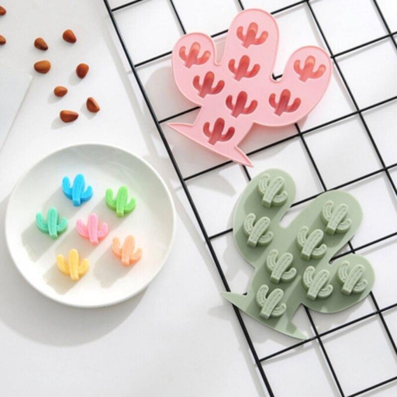 Molde de silicona para pasteles de Cactus, molde de hielo para Molde De Chocolate Para Hornear Manual DIY para cocina, herramienta para hornear pasteles