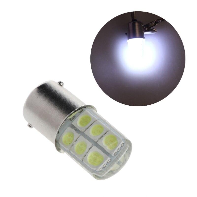 DC 12V luz para automóvil con forma de mazorca 1156 BA15S SMD 5050 12 de freno LED Bombilla de luz intermitente lámpara