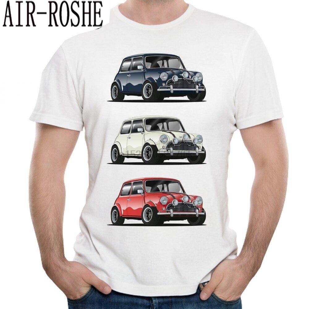 Retro THE ITALIAN TRIO Mini Cooper T Shirt Popular Car Hipster Style T-shirt