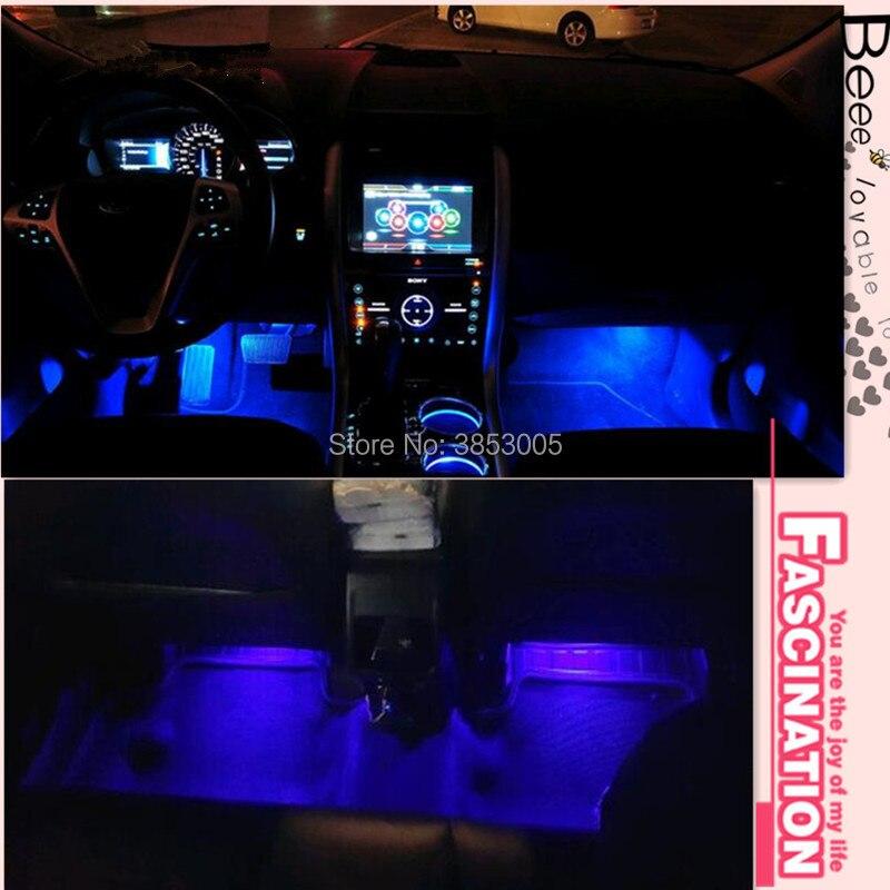 Coche Auto decorativa tira de LED Flexible Kit de lámpara de ambiente lámpara de niebla para audi tt nissan juke toyota avensis peugeot 5008 golf mk7