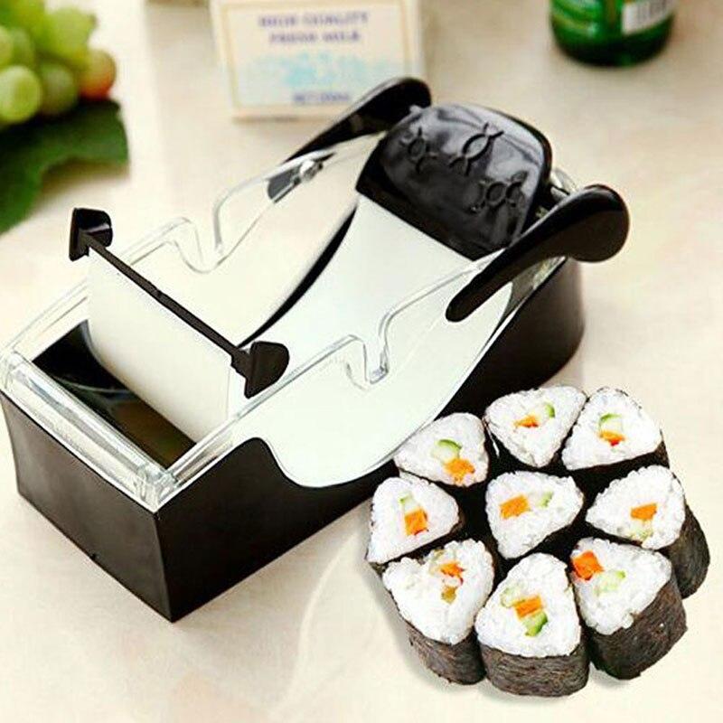 1 Juego de máquina mágica para hacer rollos de Sushi DIY rodillo de arroz cortador fácil de hacer Sushi máquina de cocina Gadget