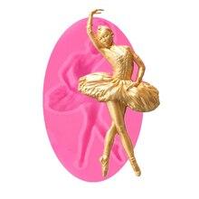 Ballett Tänzerin Silikon Form Sugar Fondant Form Kuchen Dekorieren Werkzeuge Schokolade Gumpaste