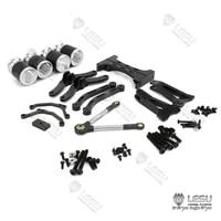 lesu metal dual pneumatic suspension set x 8004 114 tamiya rc tractor truck model th02087