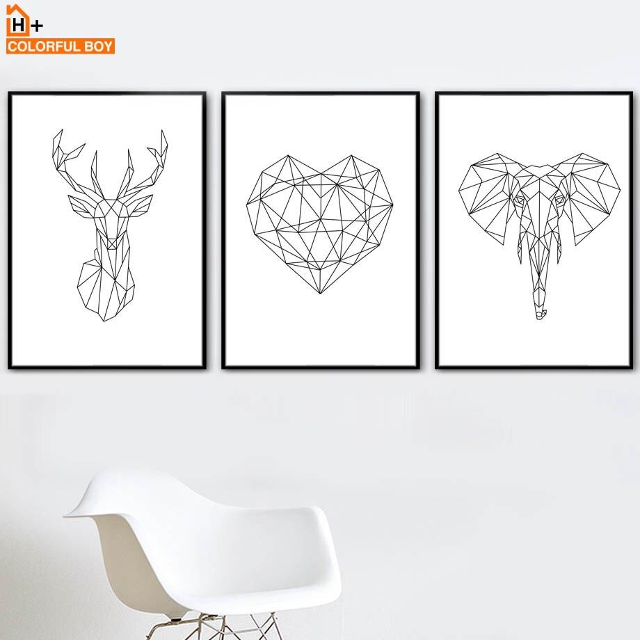 Cuadro sobre lienzo para pared carteles nórdicos e impresiones en negro y blanco para decoración para sala de estar