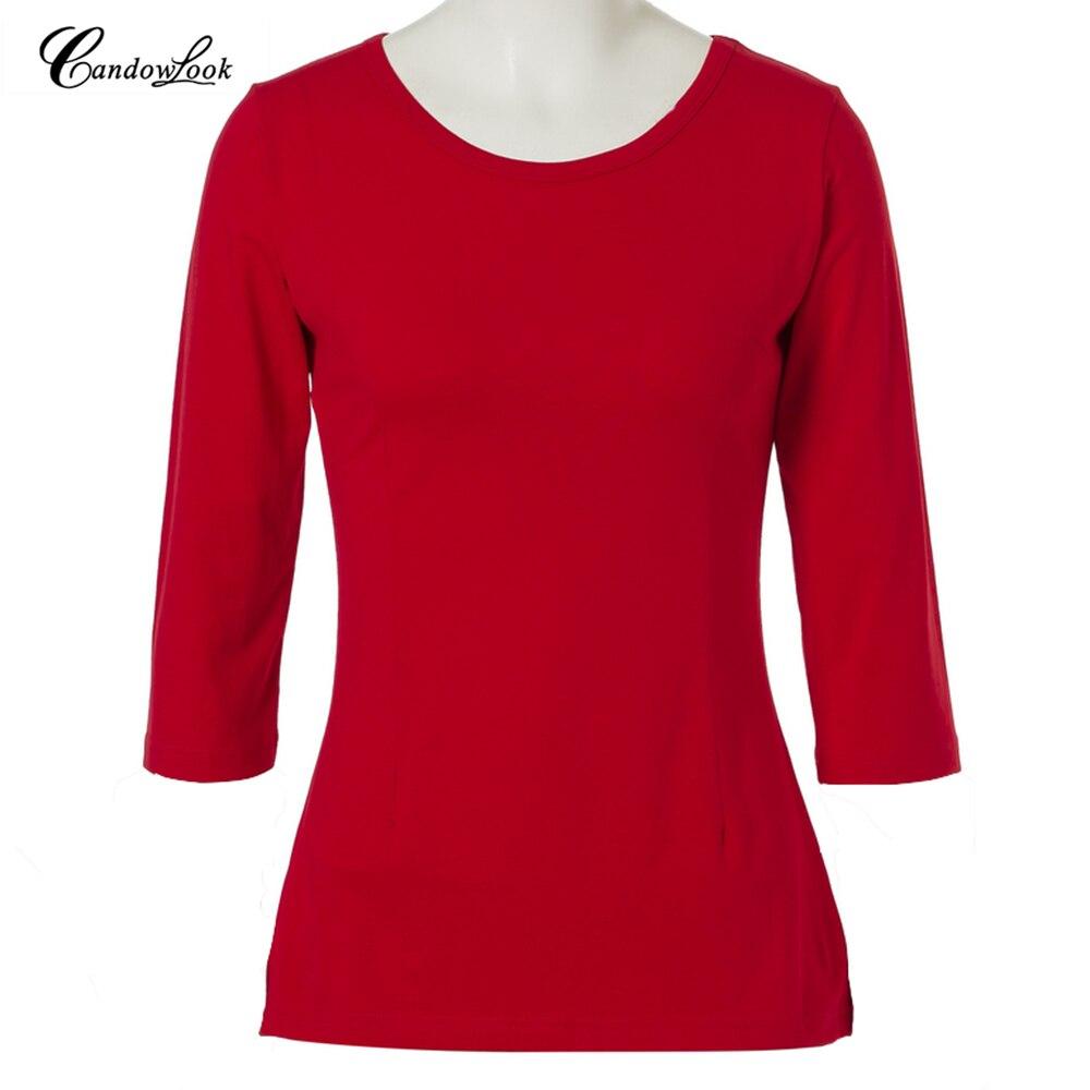 Candowlook 2018 camisa a rayas camisetas de otoño primavera las mujeres negro Camiseta de manga larga Casual estudiante Fondo camisetas Blusas