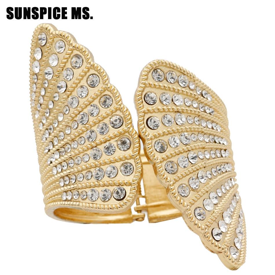 Nuevo Turco de mujer, brazalete Vintage de diamantes de imitación, joyería étnica india para boda, danza, Bohemia, boda, Festival, pulsera, Bisutería