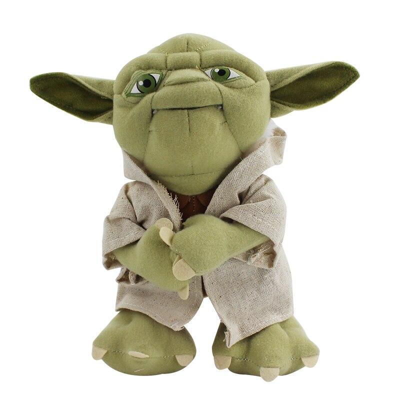 22cm Yoda de felpa personaje peluche Yoda muñeco de juguete de peluche suave