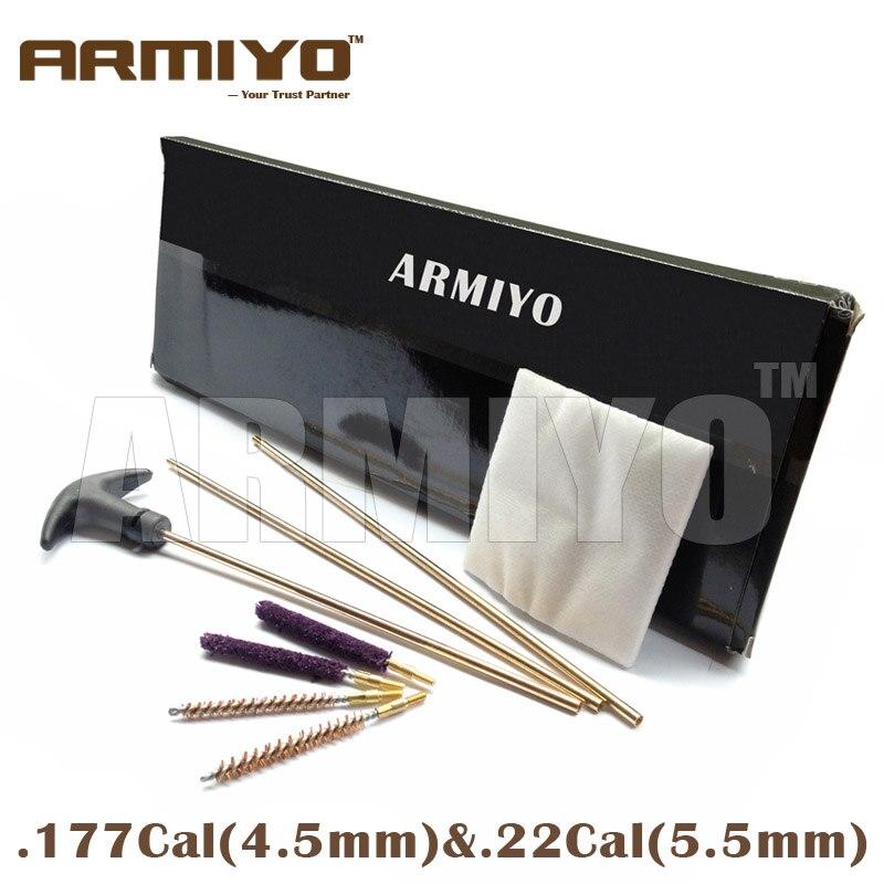 Armiyo. 17cal. 22cal latão haste arma escova de limpeza remendos swabs rifle tambor furo kit de limpeza linha 5-40 acessórios de tiro
