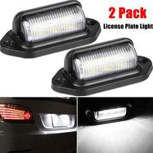 2Pcs Waterproof Car License Plate Lamp Led Headlight Modification Repair Kit Car Led Light Head Bulb Replacement Lamp