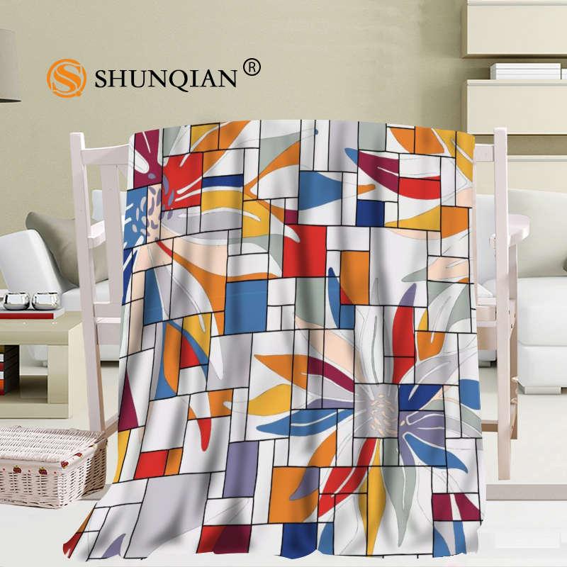هندسية مجردة الرسومات بطانية لينة لتقوم بها بنفسك أريكة سرير رمي بطانية طفل الكبار مخصص بطانية 56x80Inch50X60Inch40X50Inch