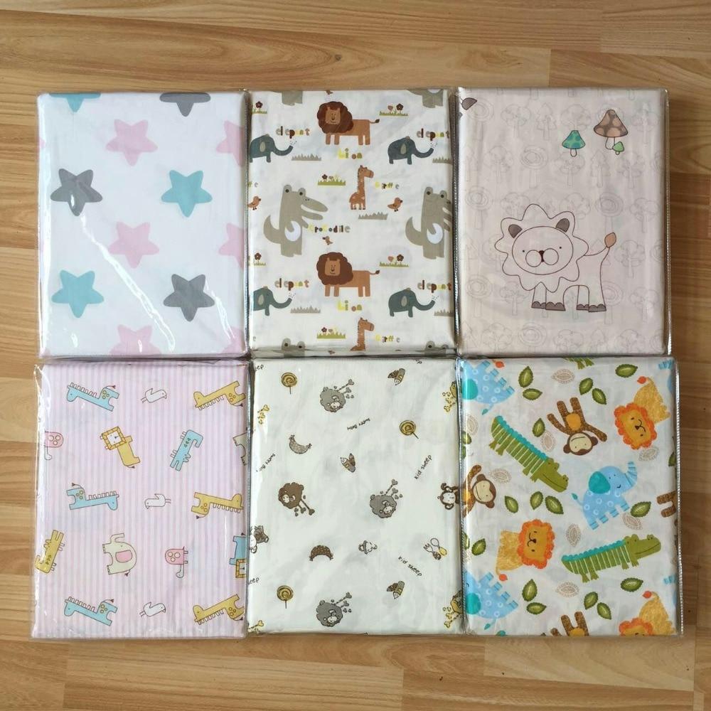 Newborn Flat Bed Sheet Cotton Baby Crib Sheets Cartoon Printing Super Soft Infant Cot Sheets Bedding Set Baby Blankets 150X90cm