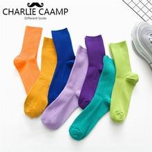 Women Cotton Socks Spring Summer Autumn  Winter Fashion New Casual Ladies Pile Of Socks Bright Color Basic Crew Socks L114
