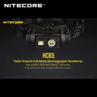 Gold Winner 2019 ISPO Award Nitecore HC65 CREE XML2-U2 LED 1000 Lumens Triple Output Rechargeable Headlamp with Li-ion Battery