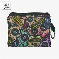 mexican skull 3d print women wallets portefeuille femme fashion billeteras para mujer coin purse billetera hombre wallet