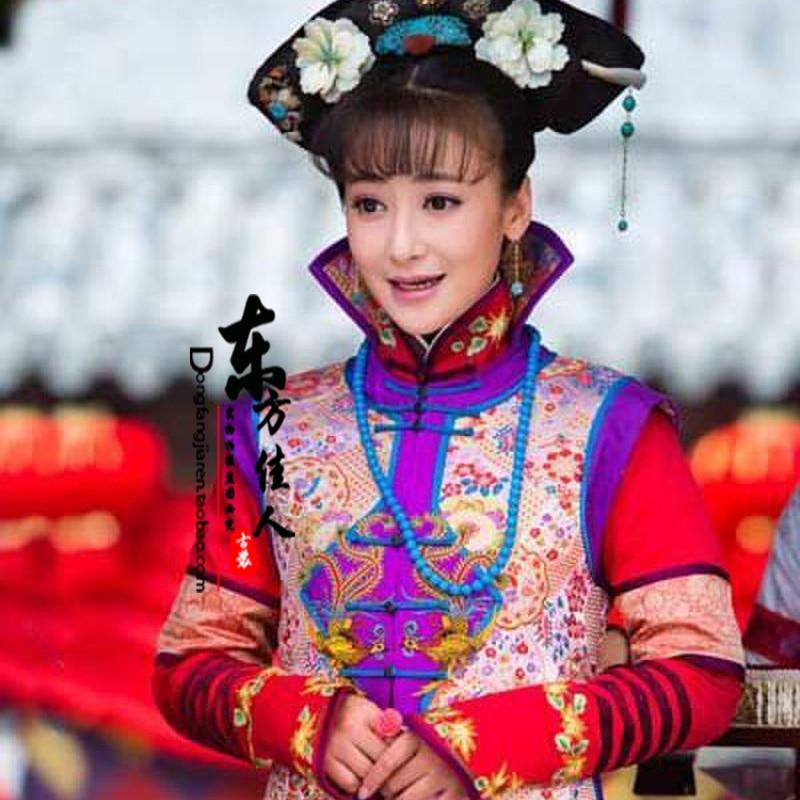 Nuevo juego de TV rojo QiZhuang Jin Chai Die Ying actriz Qing princesa Duan Min mismo Traje de diseño para mujeres