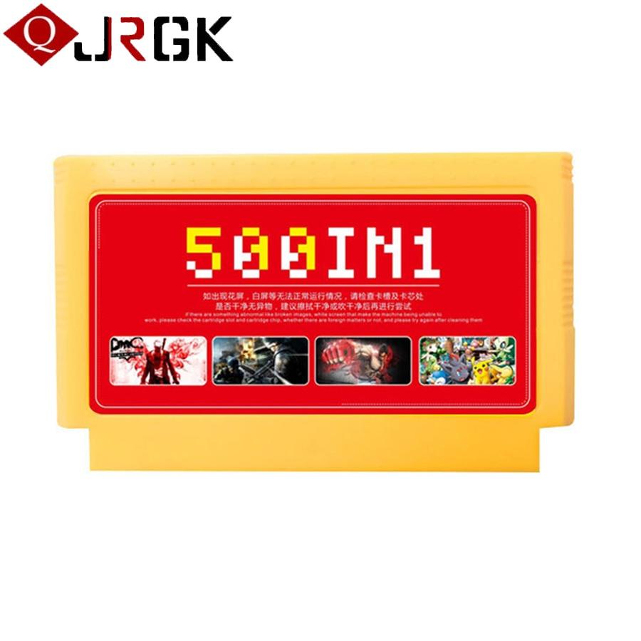 5 pçs/lote nova chegada 500 em 1 clássico coleção de jogos 8 bit 60 pinos cartão de jogo para vídeo game console cartão memória