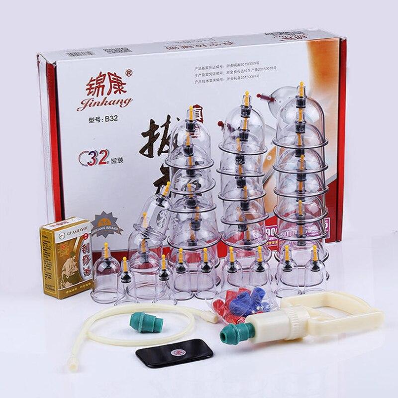 Китайские вакуумные чашки для лечения 32 шт.