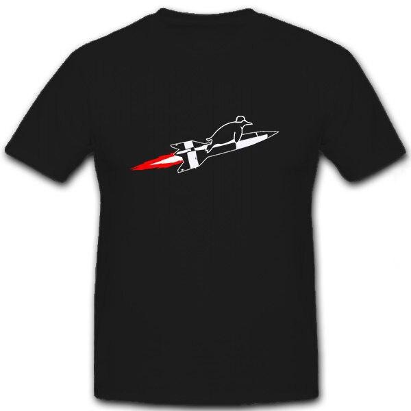 Venta caliente 2019 moda V2 Rocket nueva Swabia pingüino Segunda Guerra Mundial o-cuello camiseta