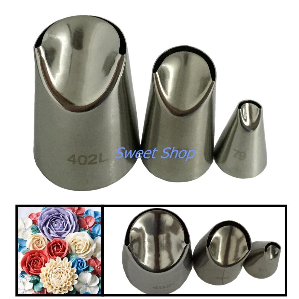 3 peças de aço inoxidável bicos pastelaria creme bolos decoração dicas conjunto ferramentas cozimento cozinha jh176
