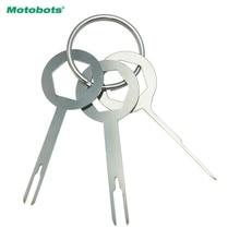 MOTOBOTS 3pcs/set Car Terminal Wiring Crimp Connector Extractor Pin Removel Key Tool Auto Terminal Removal Tool Kit #CA5754