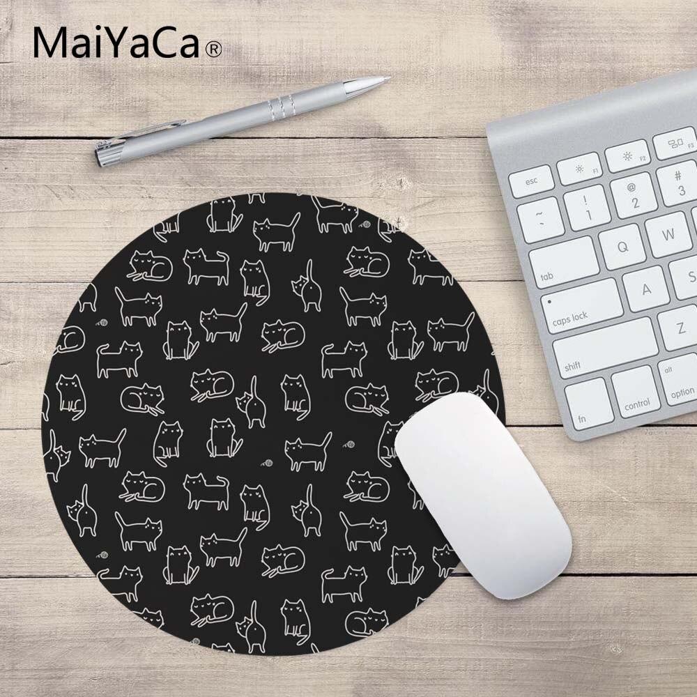 MaiYaCa Горячая Милая кошка 20*20 см или 22*22 см Коврик для мыши контроль скорости Коврик много котенка головы круглый коврик для мыши