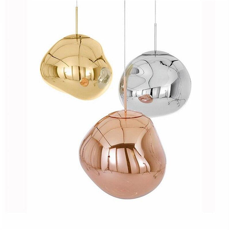 Lámpara LED moderna de cristal con Lustre para dormitorio, pelota de lava fundida, lámpara colgante para sala de estar, luces y iluminación