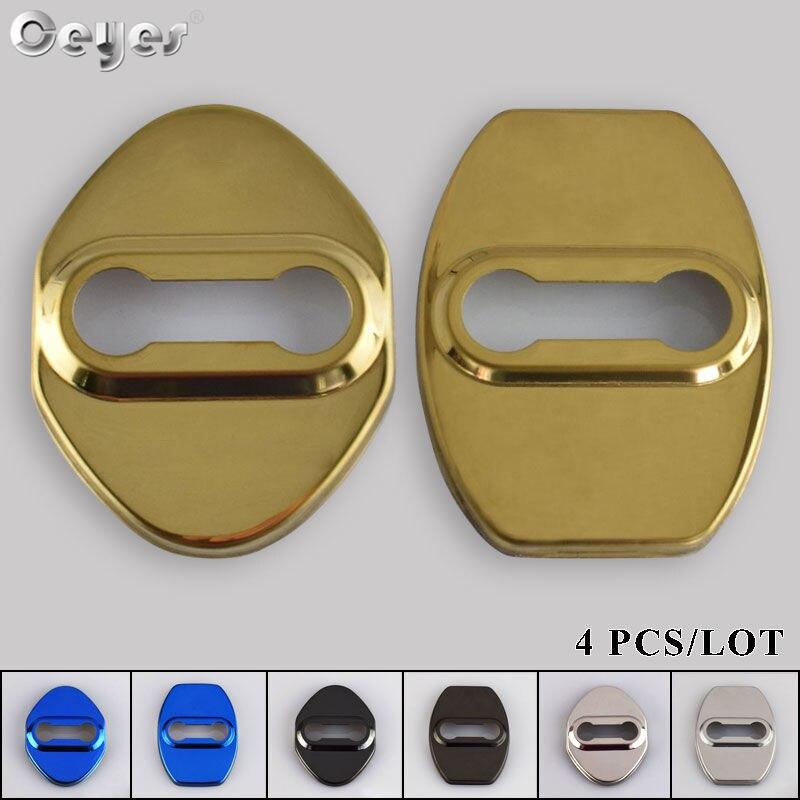 Cubierta protectora de cerradura de puerta de estilo de coche Ceyes para Toyota Corolla GS Sport Estima, accesorios de decoración de automóviles de acero inoxidable