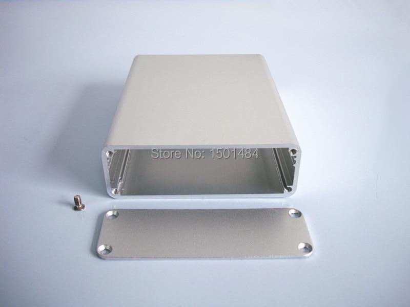 Aluminum Project Box Electronic Enclosure Case  DIY 84*28*110mm Silver  aluminum instrument housing NEW