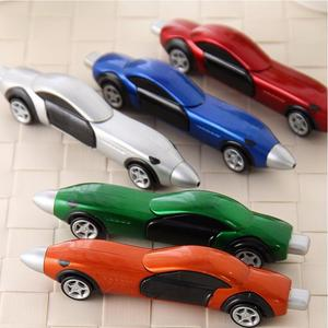 10pcs creative Stationery cartoon sports car shape  ballpoint pens can move prize for students free shipping