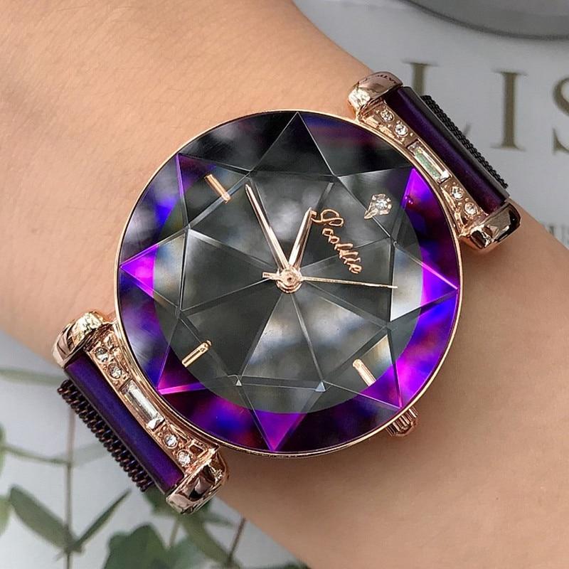 Luxury Lady Watch for Women Magnet Buckle Dress Watch Women 2018 New Stainless Steel Quartz Watch Clock Women horloges vrouwen enlarge