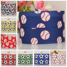 "7/8 "" 22 mm  soccer baseball ribbon grosgrain sport ribbon tape DIY  hairbow ribbon free shipping"