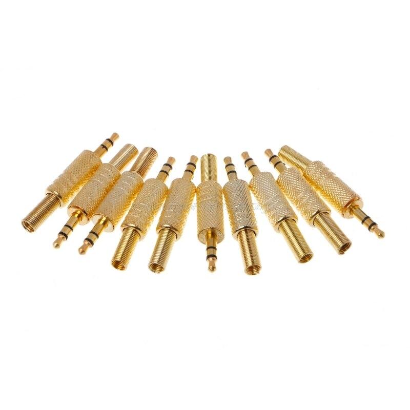 10 unids/lote chapado en oro conector RCA de Audio de 3,5mm Jack RCA Jack de Audio de 3,5 auriculares Jack estéreo Dual auriculares Jack J16 19 Dropship