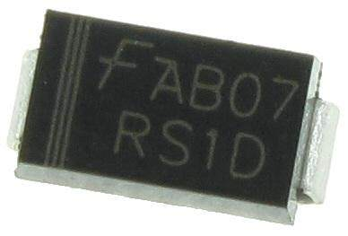 100 unids/lote RS1D FR103 200V 1A rápido rectificador