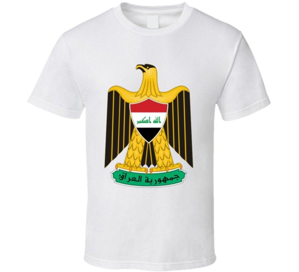 Gran oferta de camiseta de escudo de armas de Irak de verano