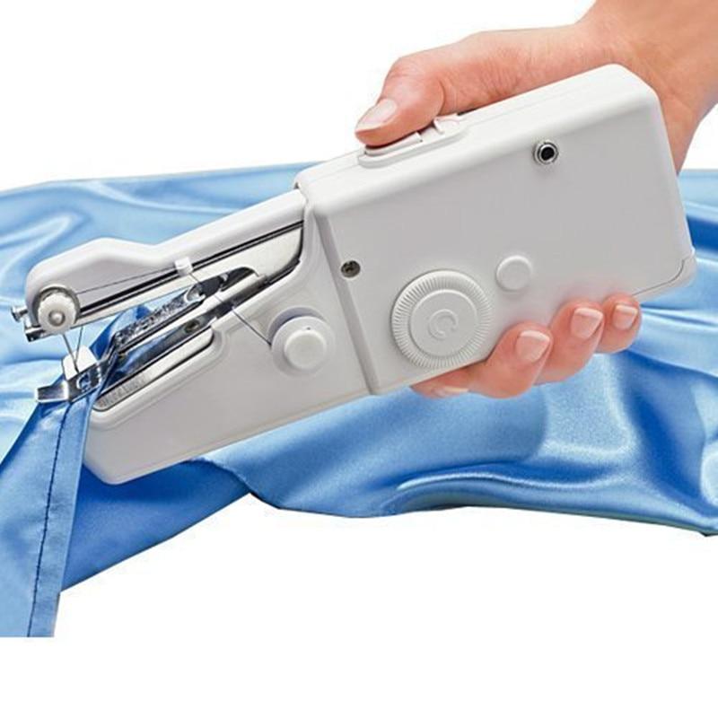 Máquina de costura handheld elétrica mini portátil alimentado por bateria acessível costura roupas ferramenta de costura para uso doméstico de viagem