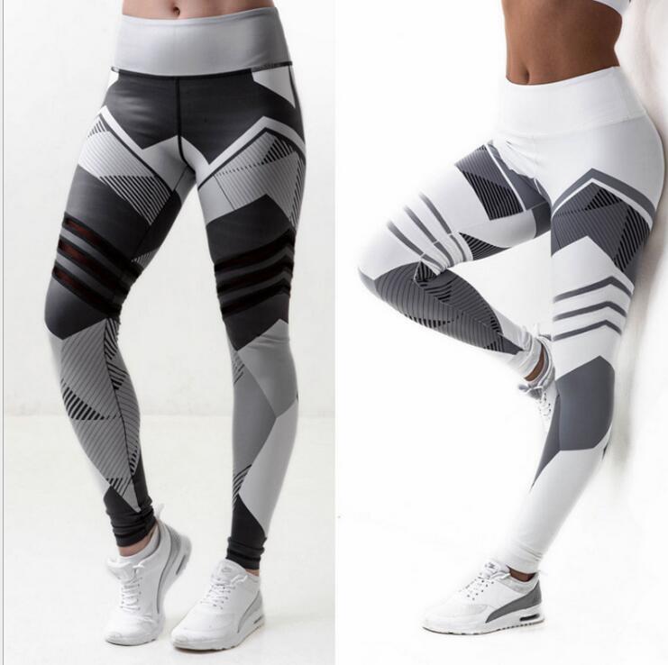 Women Leggings Push Up Hip Fitness Print Sporting Workout Athletic Leggins Elastic High Waist Slim Jogging Pants Female