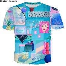 PLstar Cosmos Honda yoko darstellung landschaft Tees Männer Frauen Casual T-Shirt 3D Drucken Lose T Shirt Tops Marke Kleidung