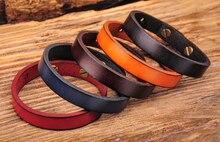 G370 Lot 5 pièces multi-couleur simplement élégant simple bande en cuir véritable Bracelet Bracelet nouveau