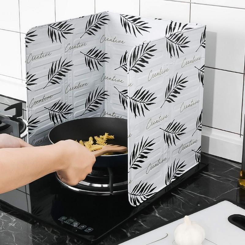 39 papel de aluminio aceite bloque de aceite barrera estufa cocinando Anti-salpicaduras de deflector de aislamiento de calor suministros de cocina utensilios