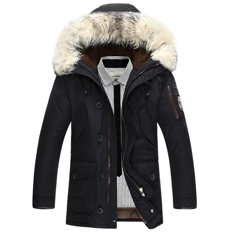 Фото - New brand winter jacket men 90% white duck down jacket thick keep warm men down jacket fur collar hooded down jackets coat male covrlge trendy hooded men s white duck down jacket stand collar embroidered down jacket men winter warm causal coat us mwy034
