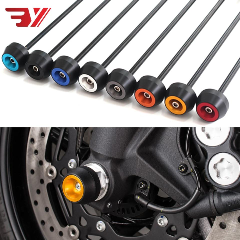 Para SUZUKI INTRUFER M1800R 2006-2015 CNCModified queda de Motocicleta amortecedor bola Acessórios de proteção Do Eixo Da Roda Dianteira