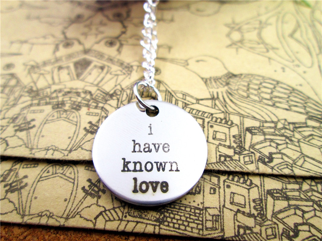 """3pcs/lot Fashion stainless steel necklace """"I have known love"""" Charms Pendant necklace Jewelry Gift more style for choosing"""