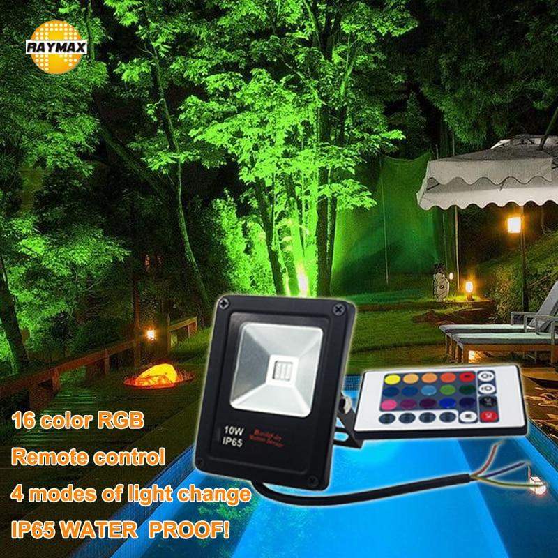 Foco de luz LED RGB para jardín, reflector de paisaje al aire...