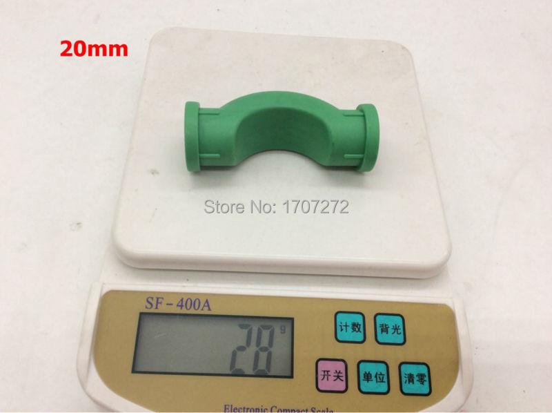 Envío gratis 3 unids/lote DN20mm PPR puente de PPR tubería de agua accesorios