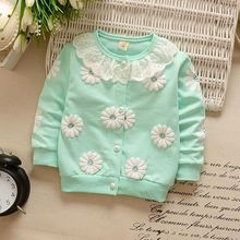 New S-XL Kids Girls  Flowers Sweatshirts Warm Coats Children Split Tops Clothing Jacket Hoodies Autumn Winter Candy Colors M1