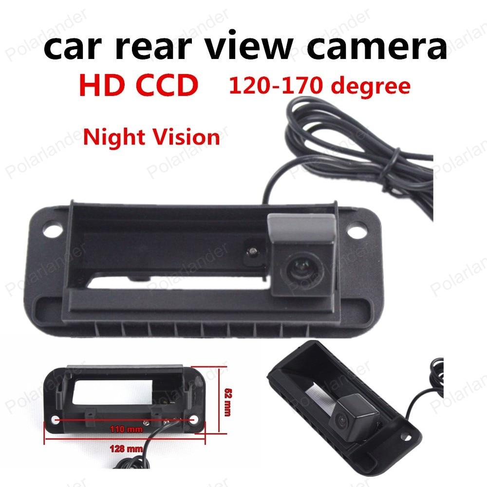 Mejor venta inalámbrico HD CCD cámara de visión trasera de coche Cámara inversa RCA NTST manija del maletero para Mercedes Benz