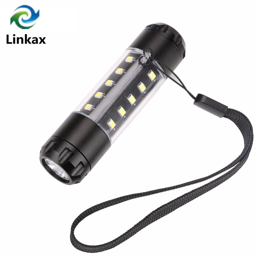 Portable 1* XPE LED+20* SMD COB LED Mini Flashlight Lamp Torch High Brightness 3800Lumens 6 Mode Light Torche Linterna AA 14500