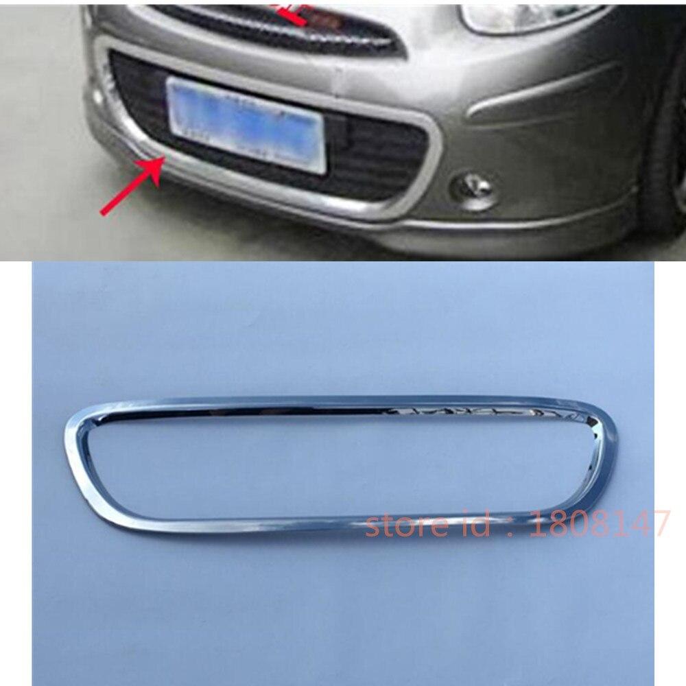 Para Nissan March 2011-2017 cubierta de diseño ABS decoración cromada espejo retrovisor lateral de vidrio cubierta molduras de Marcos 1 Uds