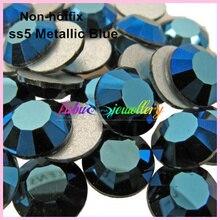 Livraison gratuite Colle pour Art des ongles à dos plat   Colle sur strass Non correcteurs, bleu métallique ss5 (1440-1.7mm), 1.9 pièces/lot