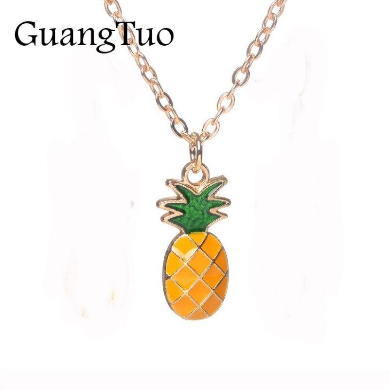 NK125 nouvelle mode Collares douce Version coréenne Fruit ananas pendentif Collier pour femmes bijoux chaîne clavicule Collier